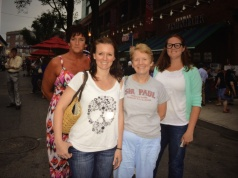 My mom, cousin, aunt and I at Fenway for a Paul McCartney concert in July 2013
